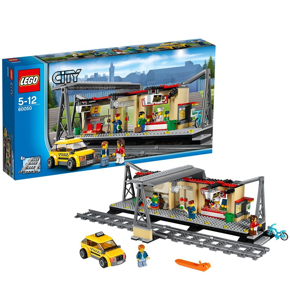 lego city train station 60050. Black Bedroom Furniture Sets. Home Design Ideas
