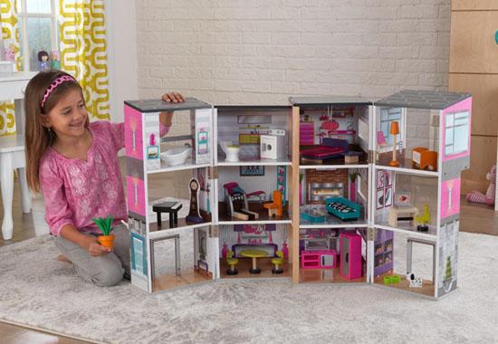 Kidkraft contemporary deluxe townhouse 65883 - La casa de barbie de juguete ...