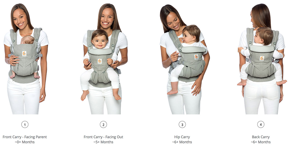 17045d9042e Ergobaby Omni 360 Baby Carrier All-In-One Midnight Blue